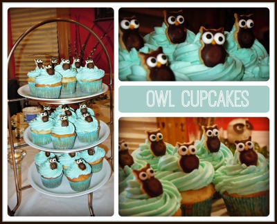 Owl cupcake collage good