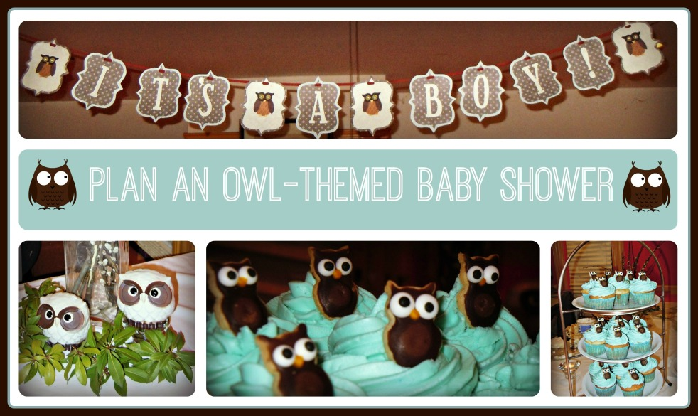Plan an owl themed baby shower
