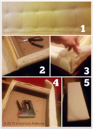 Urbanistaathome.com - DIY Re-upholstered bench on a budget 8