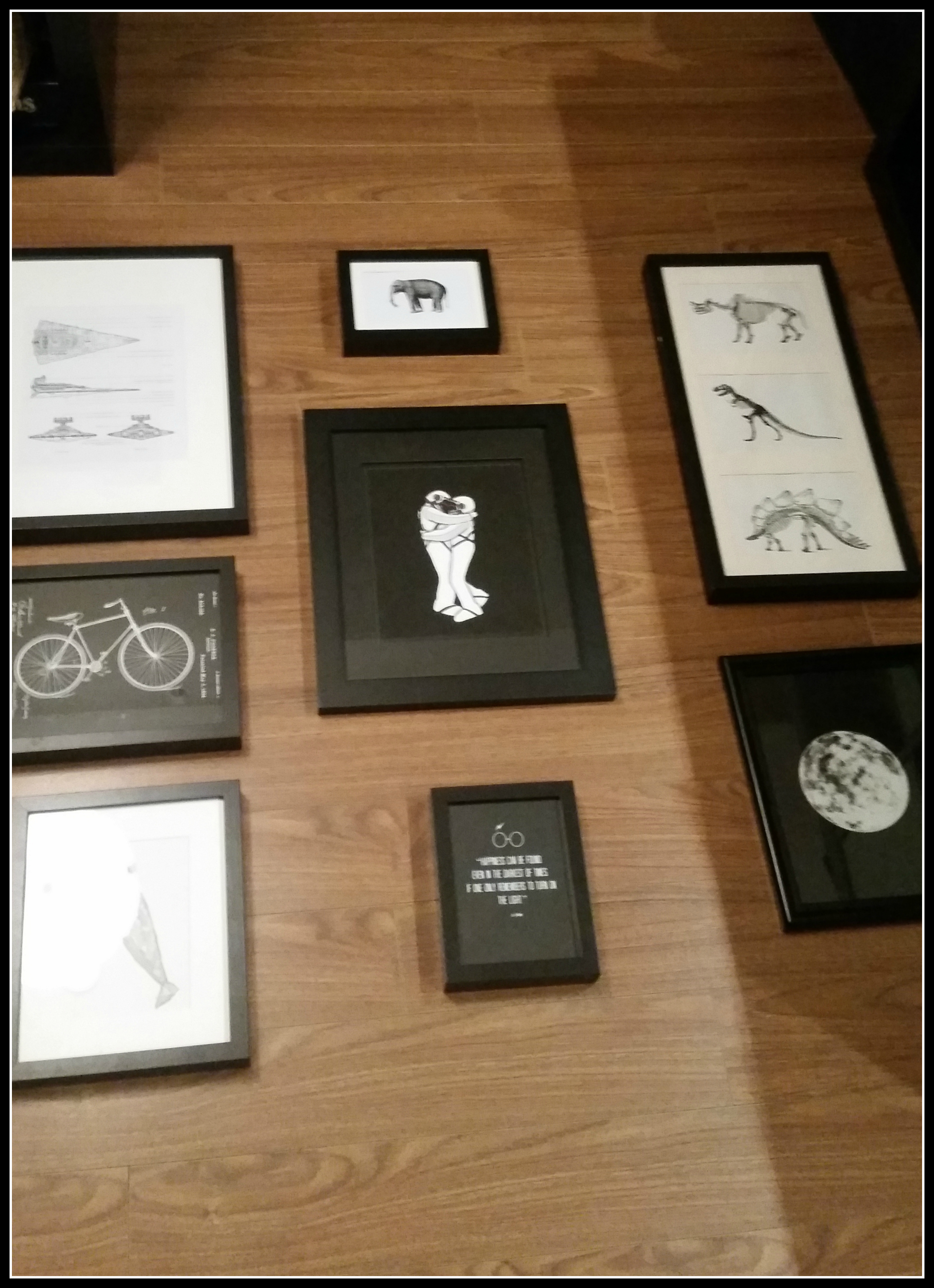 Urbanista At Home - DIY Geek Wall Gallery Layout