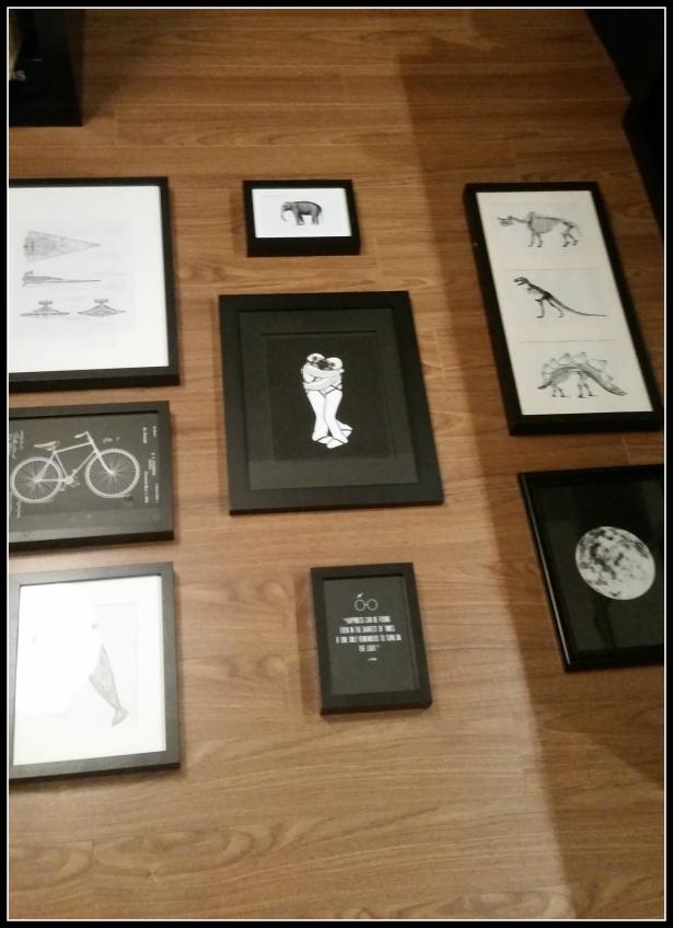 Urbanista At Home - DIY Geek Wall Gallery Layout