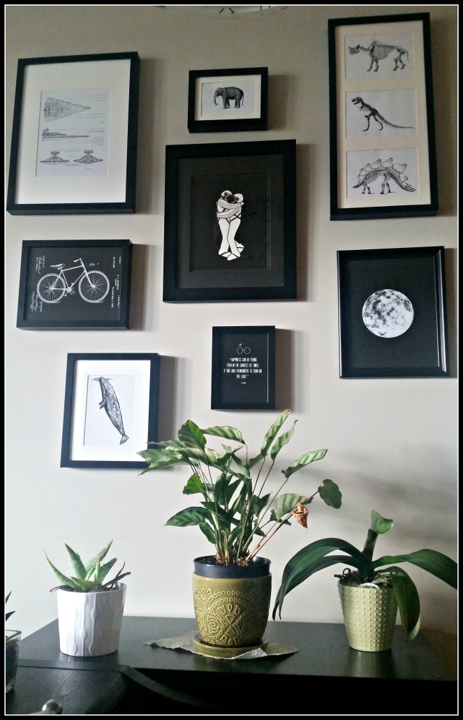 Urbanista At Home - Final Geek Chic Gallery Wall