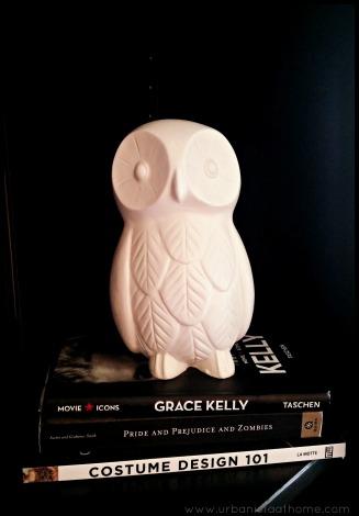 UrbanistaAtHome.com - Curating Your Bookshelf Owls and Books