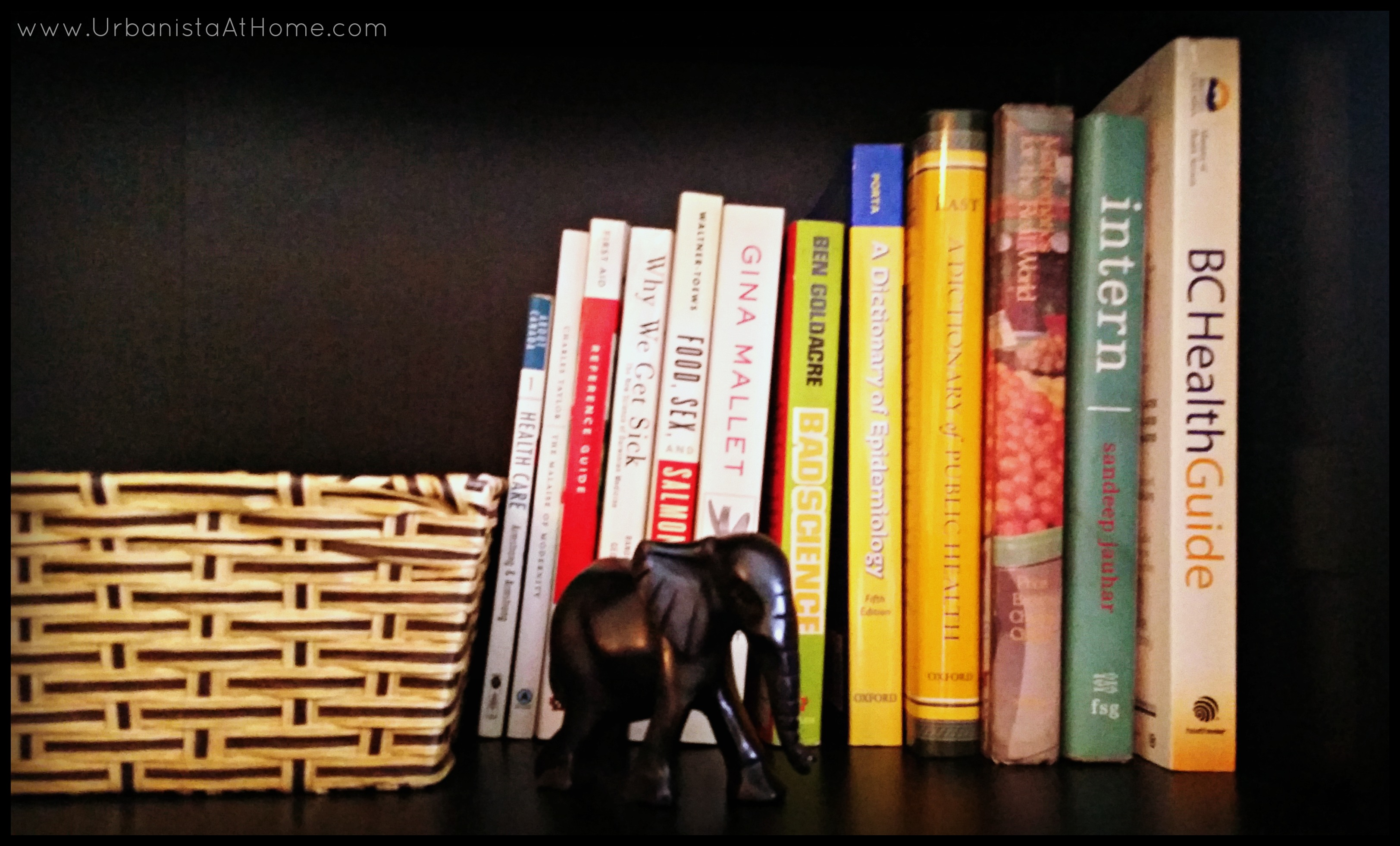 UrbanistaAtHome- Curating Your Bookcase - Health Shelf