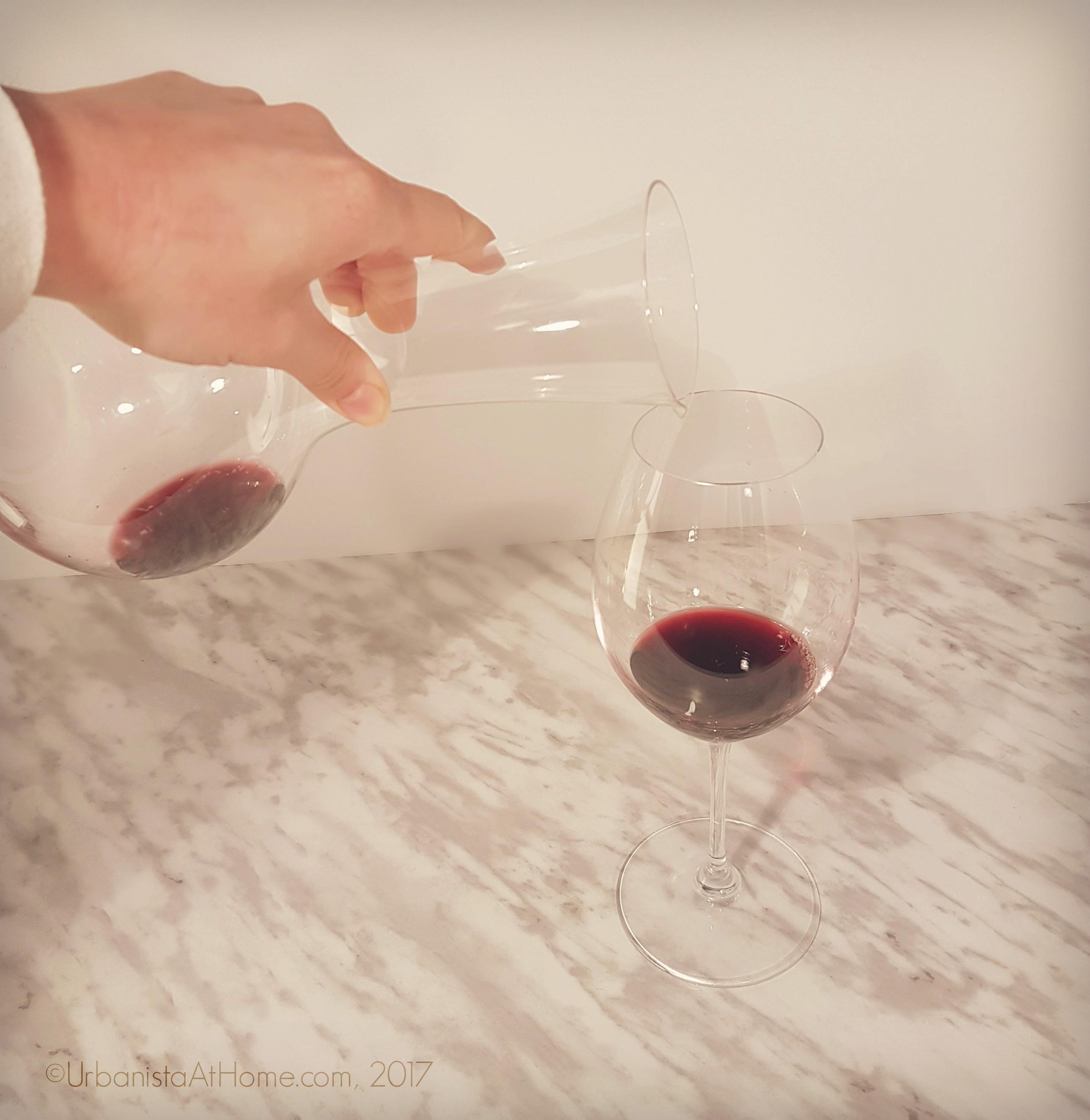 UrbanistaAtHome.com- Wine glass and decanter