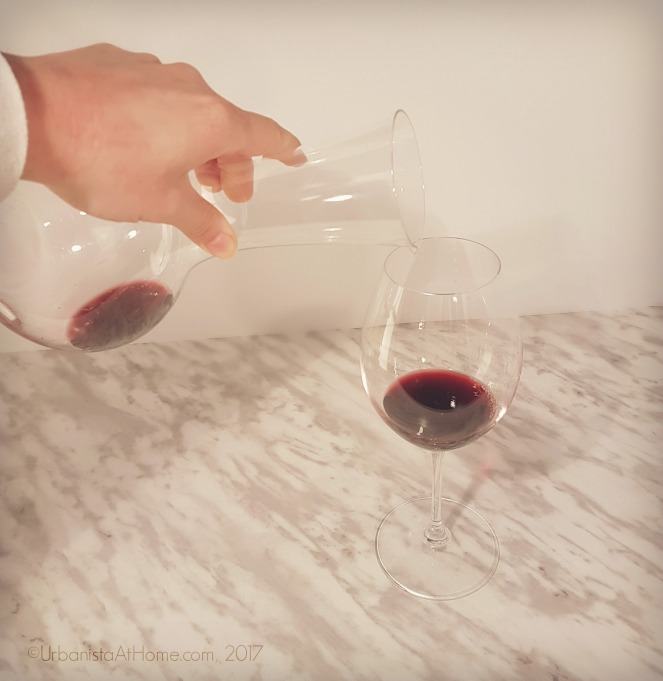 UrbanistaAtHome.com- Wine glass and decanter