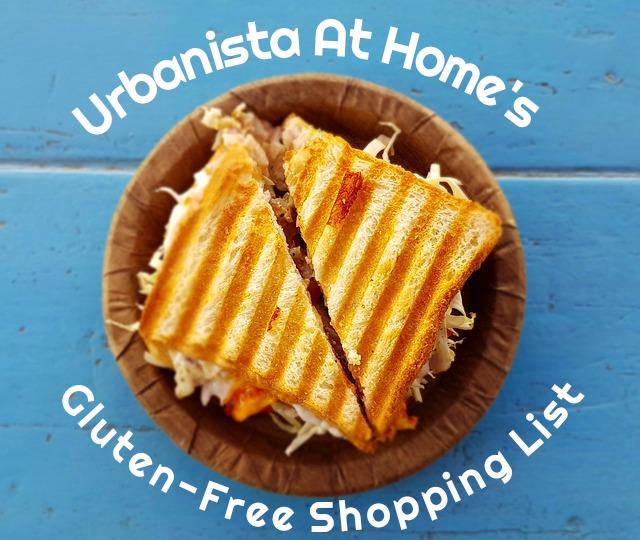 Urbanista At Home Gluten Free Shopping List